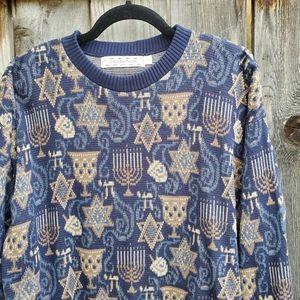 Hanukkah Blue Oversized Sweater